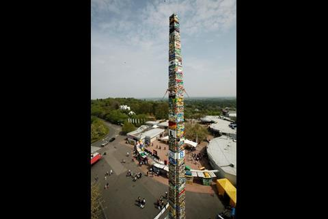 Lego tower at Legoland Windsor